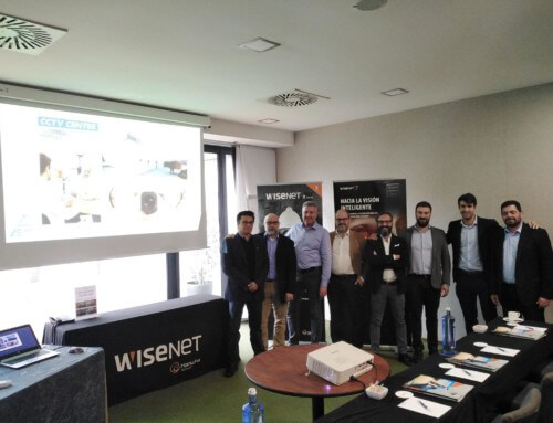 Driving event in Spain with CCTV CENTER S.L. and Hanwha team